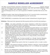 8 Sample Free Reseller Agreement Templates To Download | Sample ...