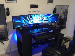 plerable inspiration pc gaming setup nice decoration awesome 2016 pc gaming setup 5760 x 1080 3