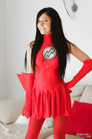 Catie Minx becomes The Flash a sexy superhero for Generation XXX.