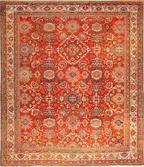 antique red sultanabad persian rug 49337 nazmiyal