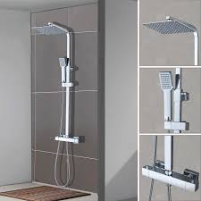 Duschsystem Mit Thermostat Regendusche Duschset Duschsäule Duscharmatur Dusche