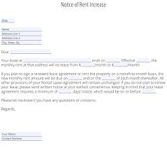 Rent Notice Letter Rent Increase Letter Free Template Zillow Rental Manager