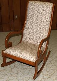 Elegant Upholstered Rocking Chair