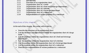Organizational Chart Food And Beverage 52 Correct Restaurant Position Chart