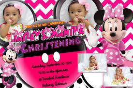 Minnie Mouse Invitation Design Minnie Mouse Sample Invitation Design For First Birthday