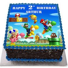 I made this cake for my boyfriend's 20th birthday. Super Mario Birthday Cake Flecks Cakes