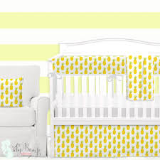 02 watercolor pineapple baby crib bedding set 20