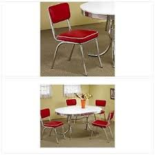 red retro chairs. Image Is Loading Red-Retro-Chairs-Set-of-2-50s-Chrome- Red Retro Chairs