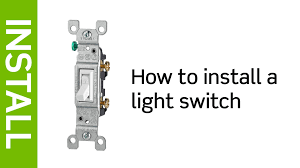 leviton presents how to install a light switch youtube how to wire a light switch diagram at Single Light Switch Wiring