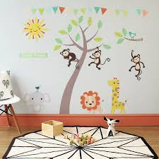 pastel jungle animal wall stickers wall stickers