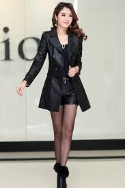spring autumn women leather jacket plus size las black motorcycle leather jacket women long pu leather