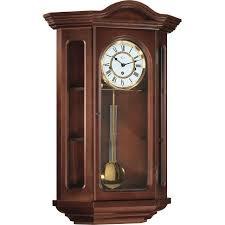hermle osterley mechanical regulator wall clock walnut westminster chime
