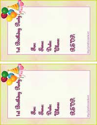 Free Printable Birthday Invitation Templates For Kids Free Printable Birthday Invitation Cards For Kids Printables And Menu