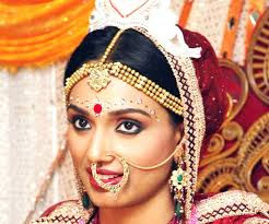 bengali bridal makeup with base primer for the