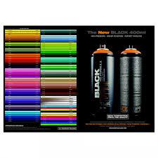 Montana Black Printed Color Chart Jacksons Art Supplies