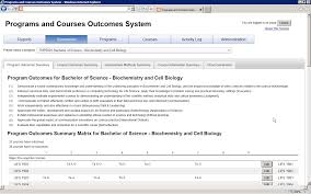 programs and courses outcomes system pacos