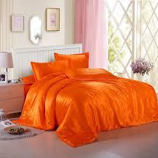 jeefttby soft orange yellow silk satin