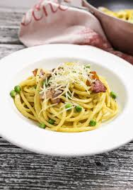 carbonara with peas simply made recipes