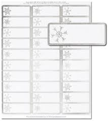 silver address label silver snowflakes address labels holiday address labels the image shop