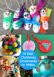 Kids will love these easy DIY Christmas ornament crafts you can make with  them! Have