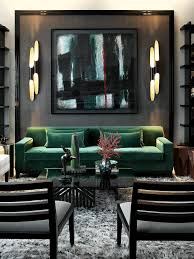 home office repin image sofa wall. john jacob living roomemerald green velvet sofa framed out wall panel in textured grey abstract art shaggy rug home office repin image t
