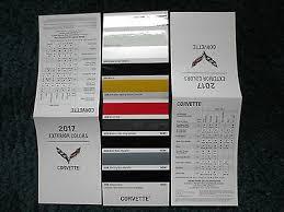 2019 Corvette Zr1 Z06 Stingray Chevrolet Dealer Color Chip