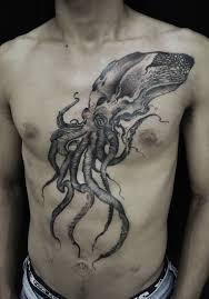 татуировка кальмар значение эскизы фото и видео Infotattoo