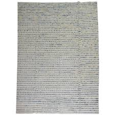 contemporary white and blue turkish rug for