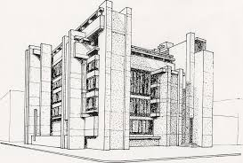 architecture building drawing. This Drawing Shows The Use Of Stapling To Show Shadow And The. Drawn Word  Old Architecture Building G