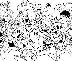 Coloring Pages Video Games Coloring Pages Of Kir Video Game Coloring