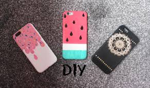 diy colourful and easy summer phone case designs watermelon ice cream henna design