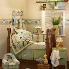 adorable jungle baby nursery room design with various safari baby bedding ideas attractive light green