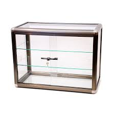 aluminum display case w lock