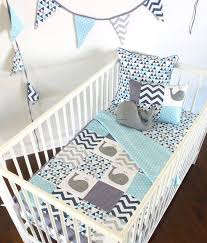Best 25+ Baby crib sets ideas on Pinterest | Crib sets, Grey baby ... & Moby the Whale Baby Crib Quilt 4pc set.quilt 2 by AlphabetMonkey Adamdwight.com