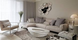 Living Room Color Schemes Beige Couch Captivating Modern Living Room With Twin Black Framed Painting