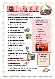 best film review ideas writing expressions english worksheet writing a film review guideline
