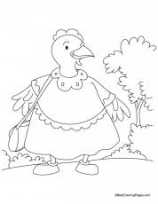 Small Picture The Little Red Hen Coloring Pages Printable Coloring Sheet 217471