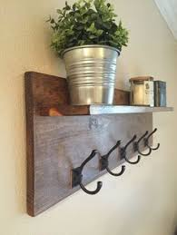 Floating Entryway Shelf Coat Rack This Recycled Wood WallMount Coat Rack is what your entryway 92