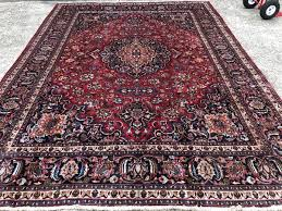 8x11 antique persian rug hand knotted red blue oriental area rugs kashan handmade