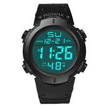 <b>HONHX Men's</b> LCD Digital Watches Outdoor Life Waterproof <b>Sports</b> ...