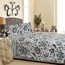 black flower 100 cotton 3pc classic