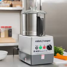 blender and food processor combo. Robot Coupe R402 Combination Continuous Feed Food Processor With 4.5 Qt. Stainless Steel Bowl - 2 Hp Blender And Combo B