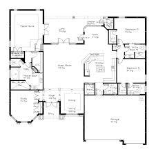 story open floor plan split bedrooms