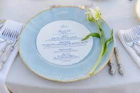 tableware for weddings. light blue fine china charger plate with gold trim for wedding reception place setting tableware weddings a