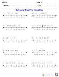multiple step inequalities worksheets
