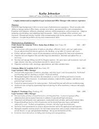 Legal Assistant Resume Templates Free Secretary Cv Example
