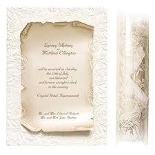 Scroll Wedding Invitations Wedding Ideas