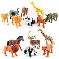 plastic zoo animals toys. Simple Plastic Simulated Zoo Animals Toy Panda Giraffe Horse Lion Tiger Elephant Grassland Plastic  Model Toys For To 2