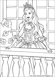 Barbie Princess Pictures To Color Free Coloring Library
