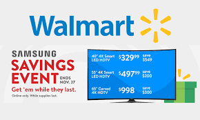 Walmart Black Friday 2017 TV Deals Ads Sales Samsung Savings Event Ad: Best Early 4K TV, QLED HDTV